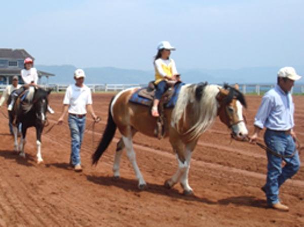 スタッフが馬をひいてご案内いたします ※イメージ画像