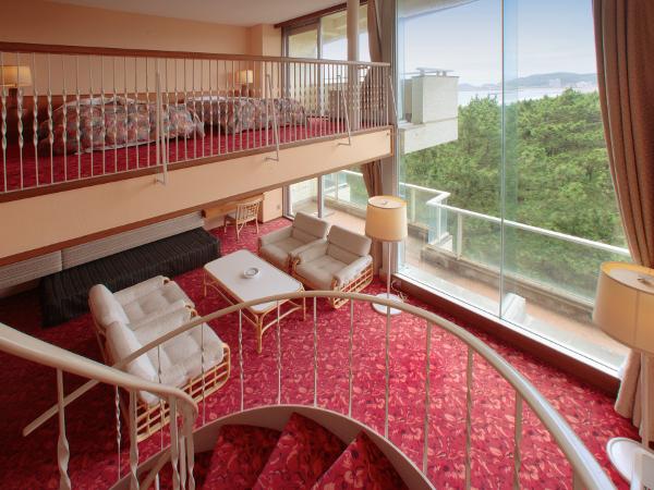 中2階付きのメゾネットルーム(ベッド4台+ソファベッド2台)