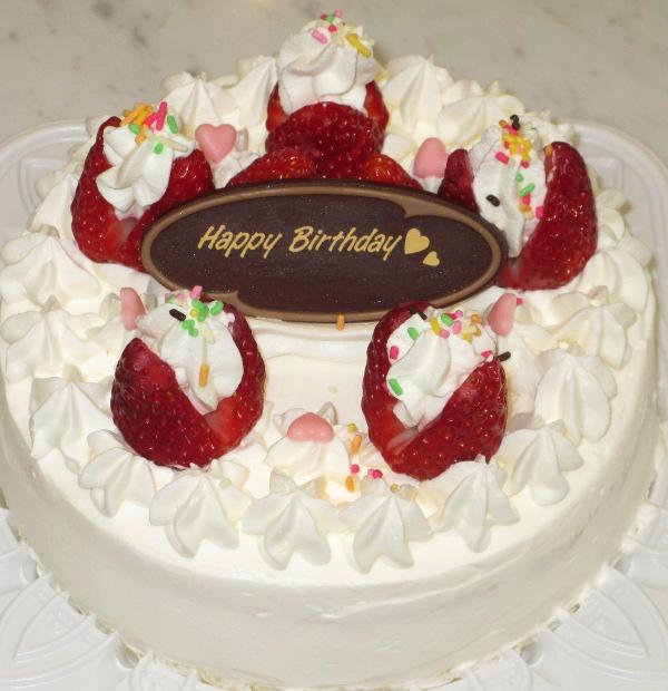 特典:ホールケーキ(サイズ:直径15センチ)ご用意致します