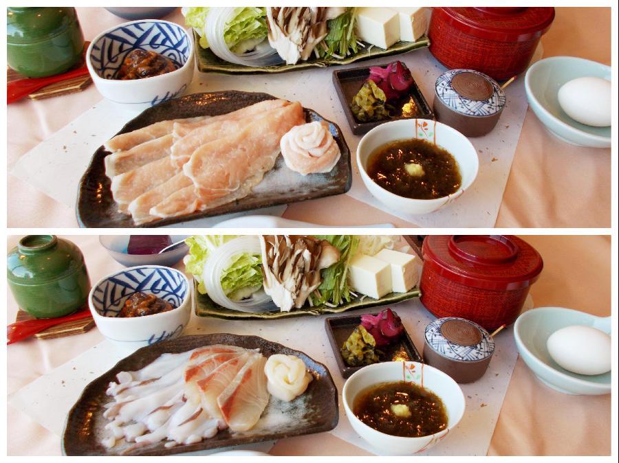 「豚しゃぶしゃぶ鍋」または「海鮮しゃぶしゃぶ鍋」よりお選びください!