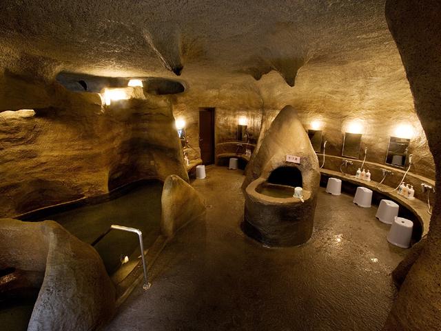 女子洞窟風呂