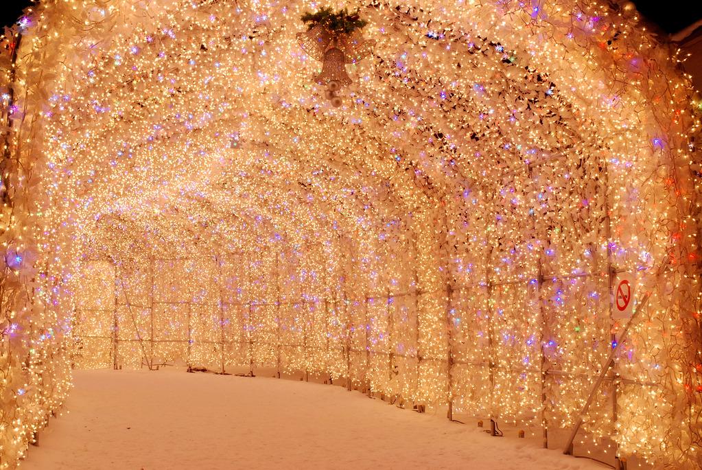 幻想的な冬の夜を演出★洞爺湖温泉イルミネーショントンネル