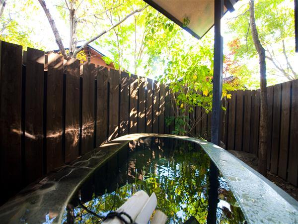 客室の半露天も温泉です