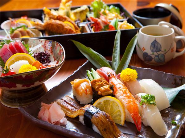 お寿司の宅配付プラン(写真一例