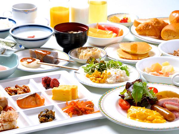 朝から満足!朝食バイキング付(盛付例)