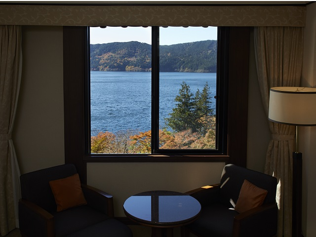 All rooms offer a wonderful view of Lake Ashi.