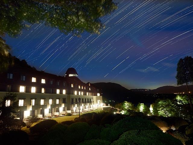 冬の澄んだ空気の中では星空もきれいに見えます