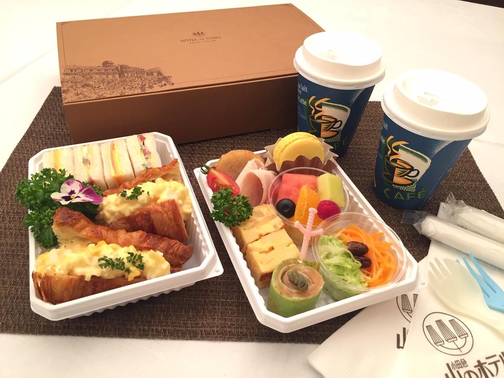 朝食としてお部屋へお届け 【モーニングボックス】 〜イメージ〜