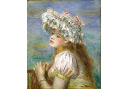 ポーラ美術館収蔵 ピエール・オーギュスト・ルノワール《レースの帽子の少女》