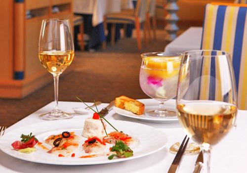 お食事はフレンチジャポネのコース(イメージ)