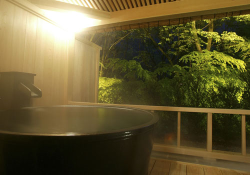 お部屋でのプライベートな露天風呂