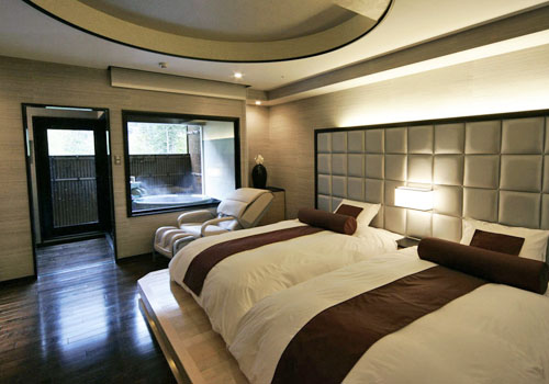 2種類ある露天風呂付きの特別室(一例)