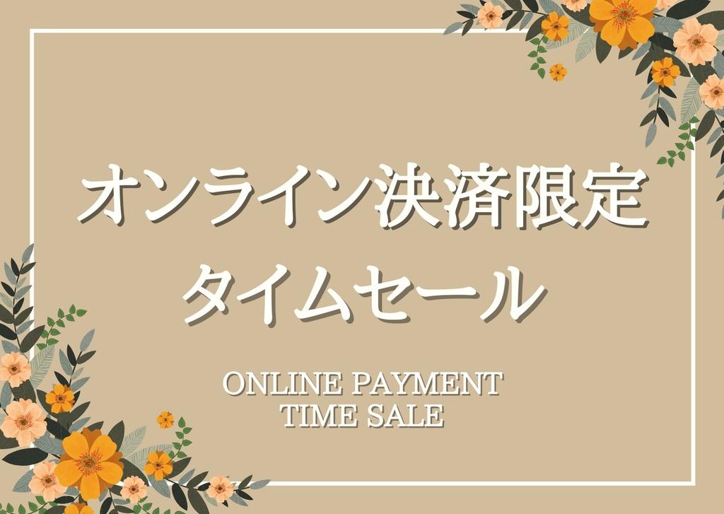 オンライン決済限定タイムセール