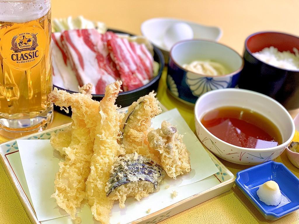 レストランまりも天ぷら&牛すき焼きセット