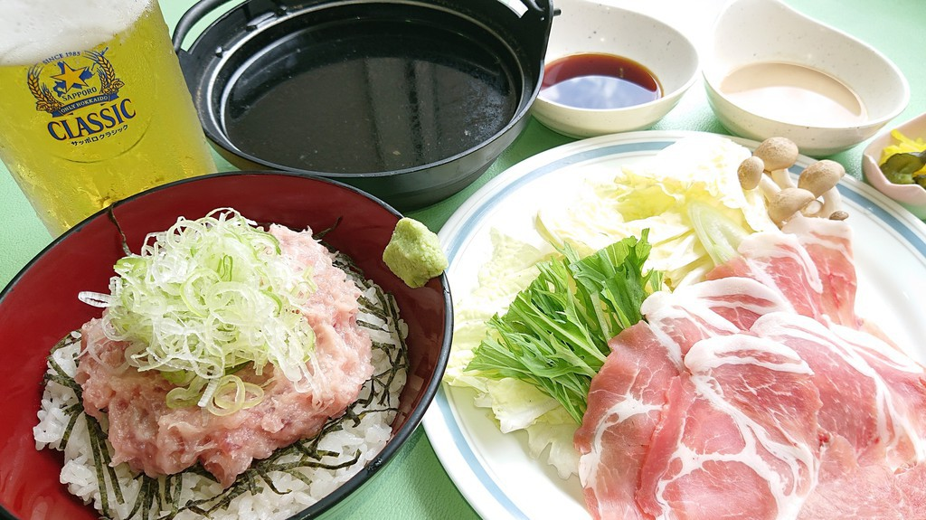 豚しゃぶ&ネギトロ丼セット