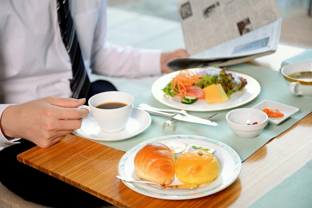 出張の際も朝食を食べて元気に☆
