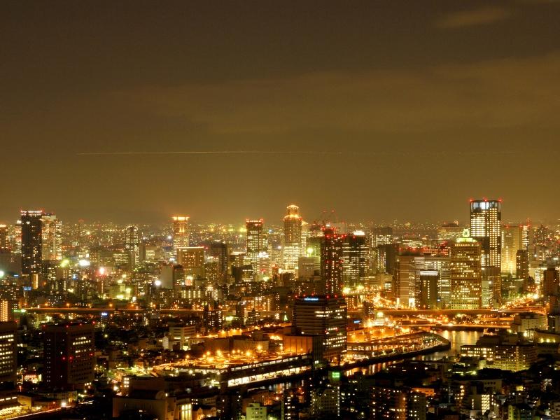 シティサイドの夜景は大阪市内が一望!