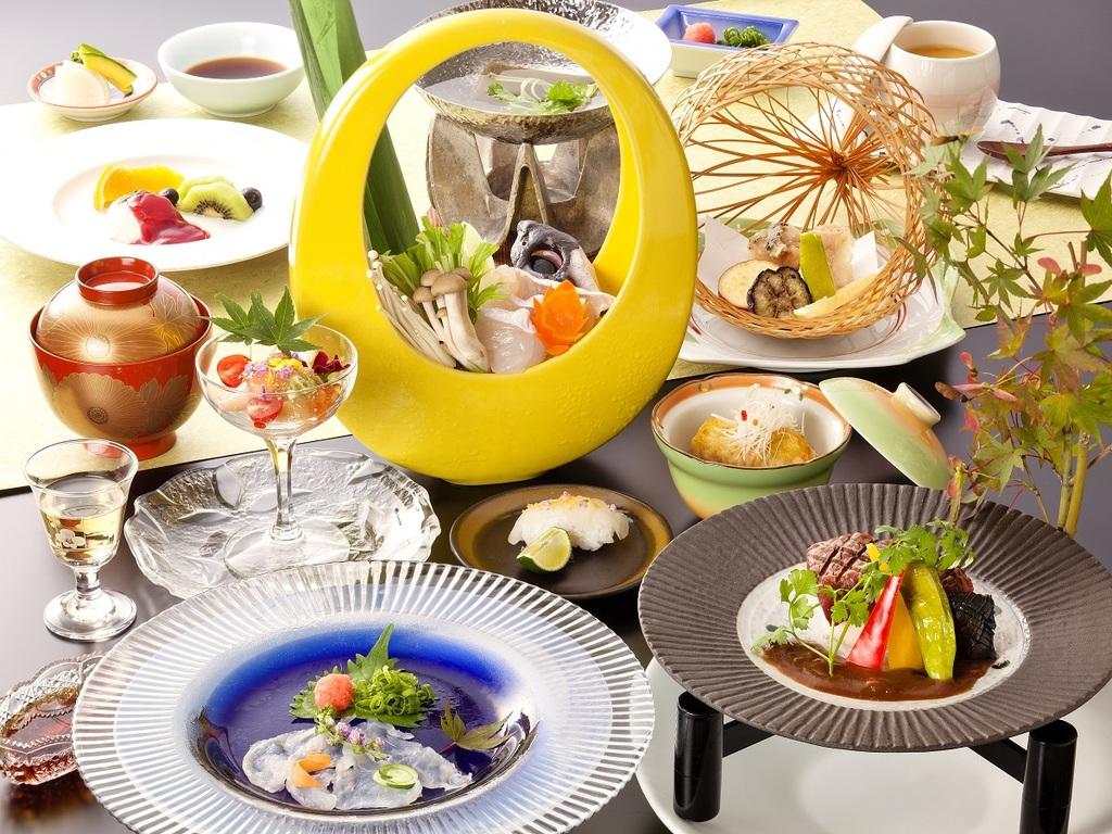 旬のクエを色々な料理で愉しむ会席です