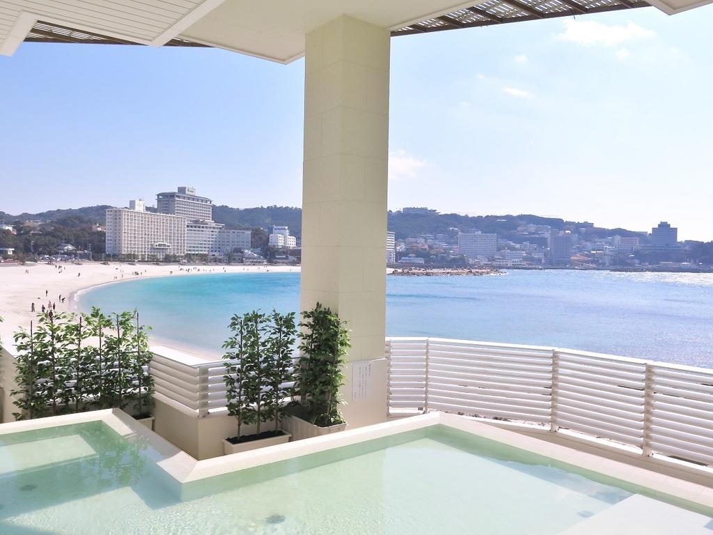 「潮風」白良浜を一望する海に一番近い露天風呂