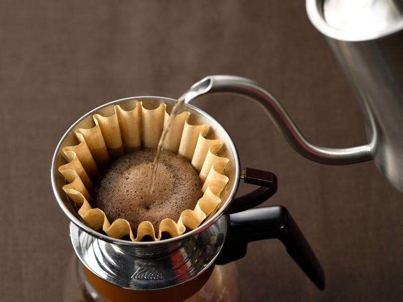 淹れたてコーヒー