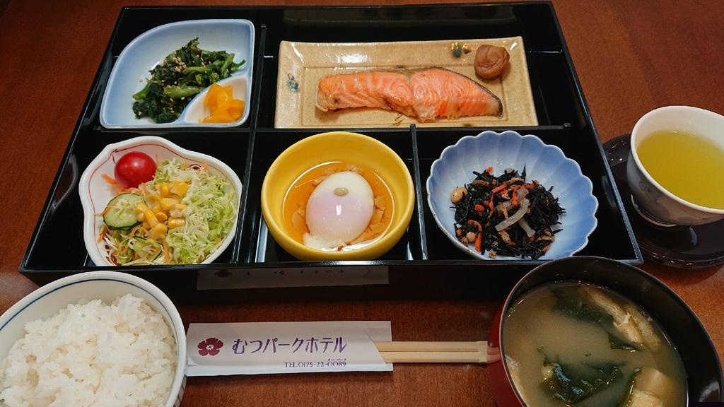 和朝食の一例です。メニューは日替わり♪