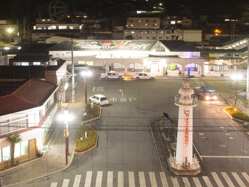 ホテルは気仙沼駅の前