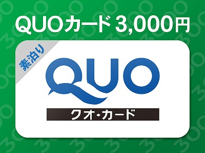 クオカード3,000円分が含まれた特別プランです。