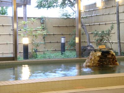 天然温泉でゆっくり