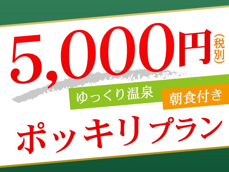 2名様ご利用時1名あたり5,000円(税別)ポッキリ