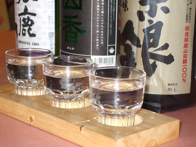 【利き酒セットプラン】夕食時3種の日本酒をご用意(1杯約50ml)