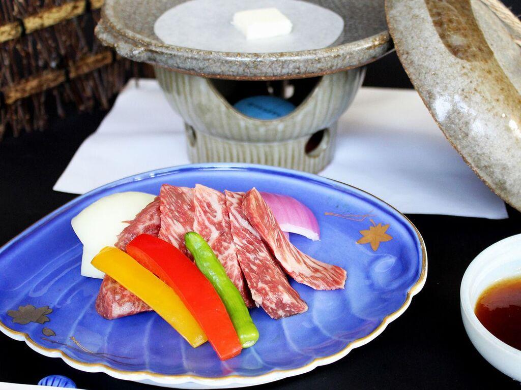 <星>鳥取牛の陶板焼き