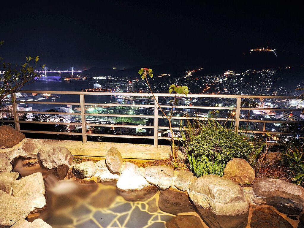 露天風呂 長崎の夜景を独り占め♪