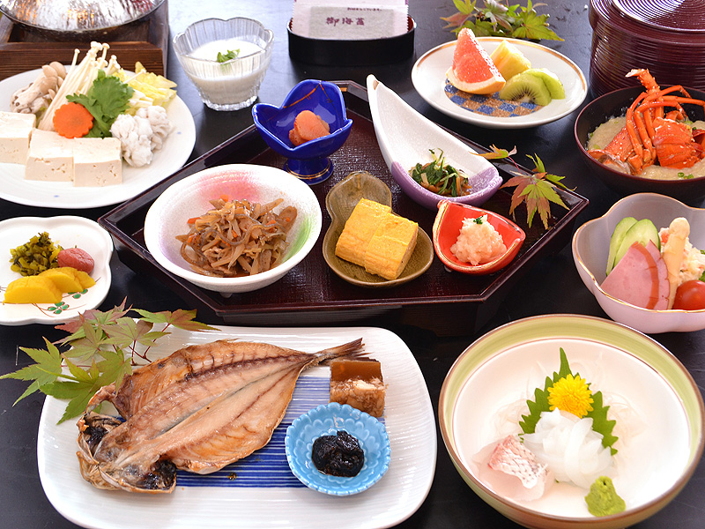 【グレードアップ】旅館の朝ごはん!ちょっぴり贅沢♪/【グレードアップ】こだわりの1泊朝食プランにてご提供