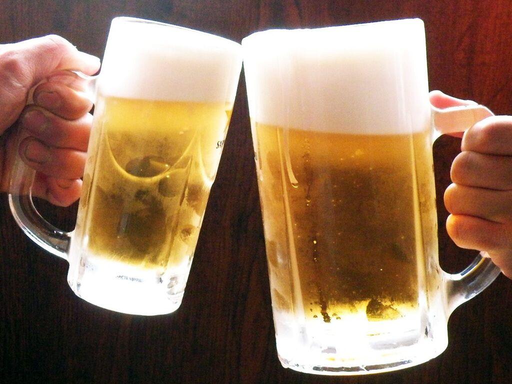 生ビールをはじめ各種アルコール飲み放題!