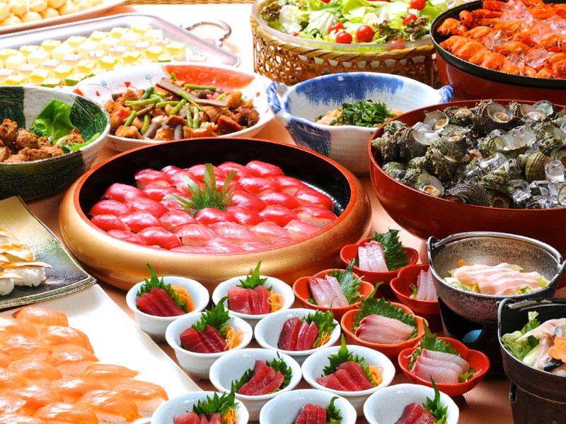味覚満載の「海鮮網焼きと旬菜バイキング」