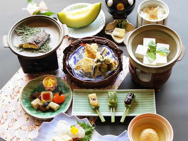 京湯葉と豆富会席