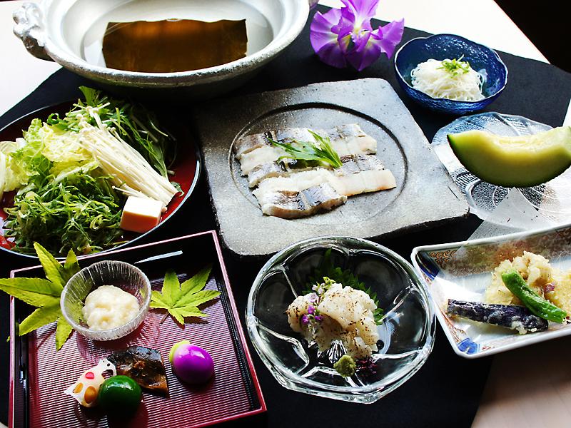 夏の京都鱧づくし「しゃぶしゃぶ鍋」