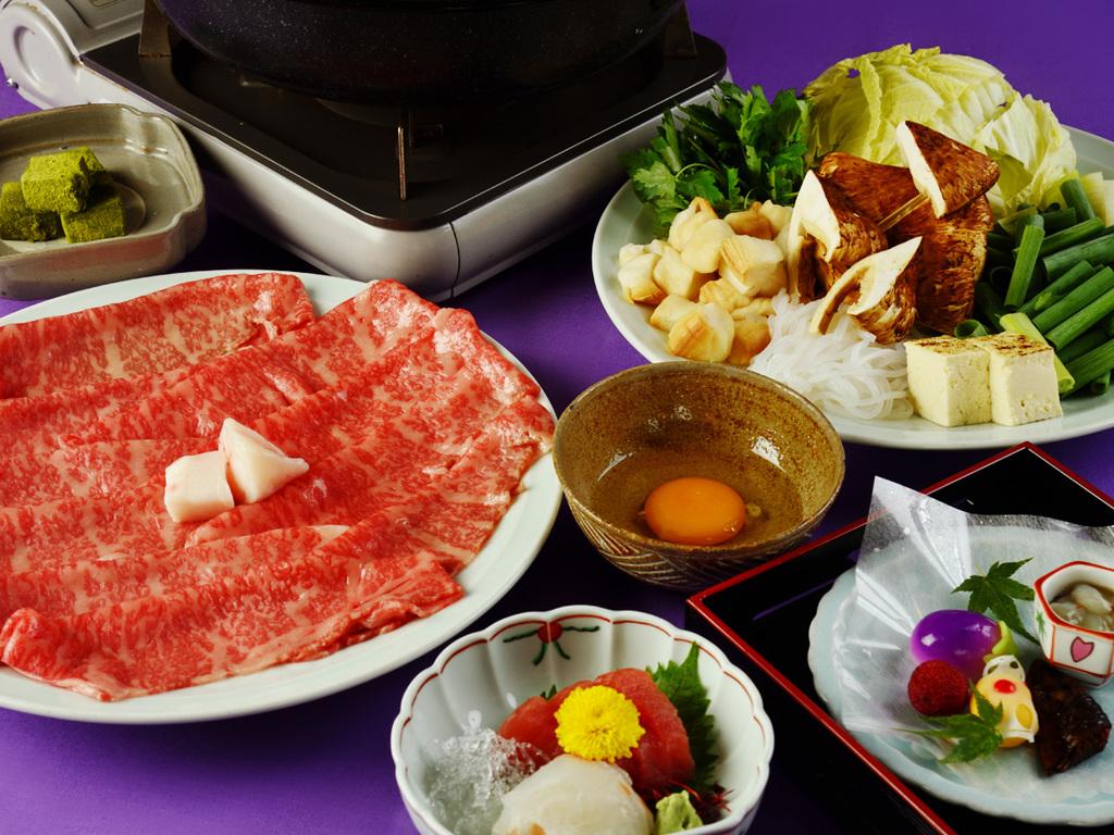 特選和牛と松茸のすきやき鍋会席