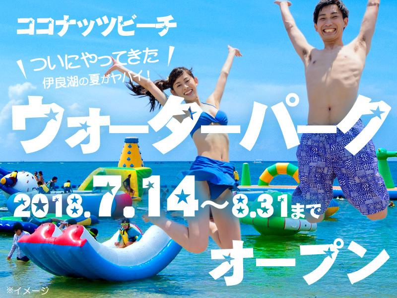 夏の伊良湖☆ココナッツビーチのメインアクティビティ「ウォーターパーク」