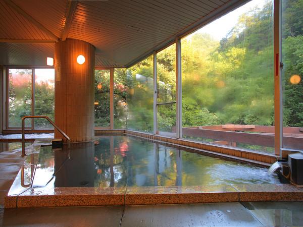 ひだまりの大浴場は森を眺めれる広々大浴場!