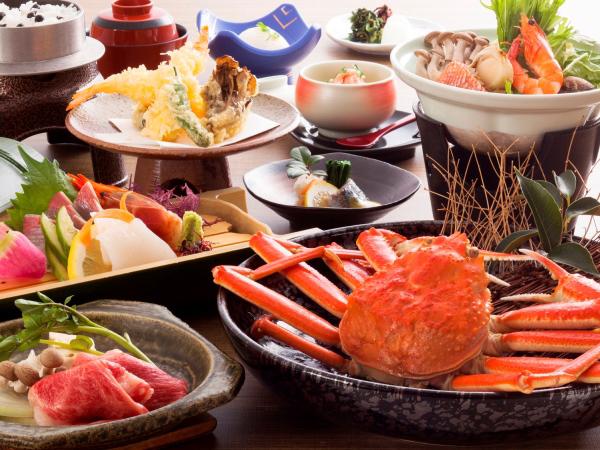 色々食べれる海鮮会席 [カニボイル2人盛/一例]