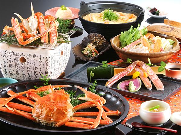 ボリューム控えめ、お腹にちょうどな蟹2杯フルコース