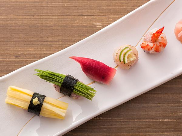 思わず写真を撮りたくなる手毬寿司