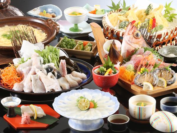 とらふぐ、鮑、旬菜など、春を彩る豪華料理をどうぞ[一例]