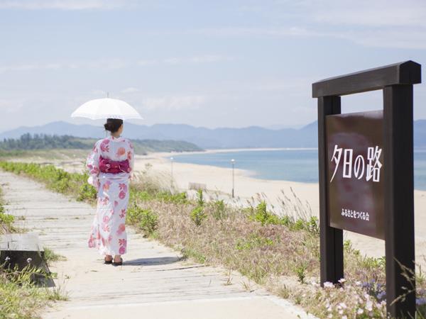 海までは徒歩約5分、浴衣で散歩のはんなり休日