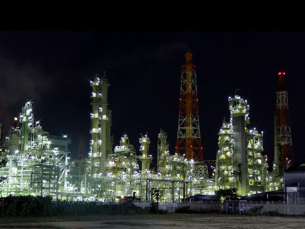 人気の夜景スポット♪(堺泉北臨海工業地帯)