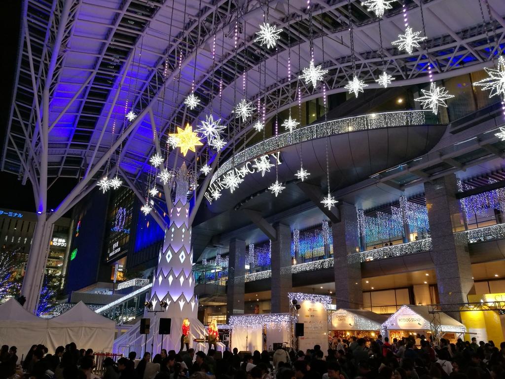 博多駅のクリスマスマーケット