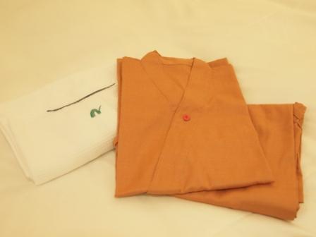 レデースルームの部屋着(作務衣)
