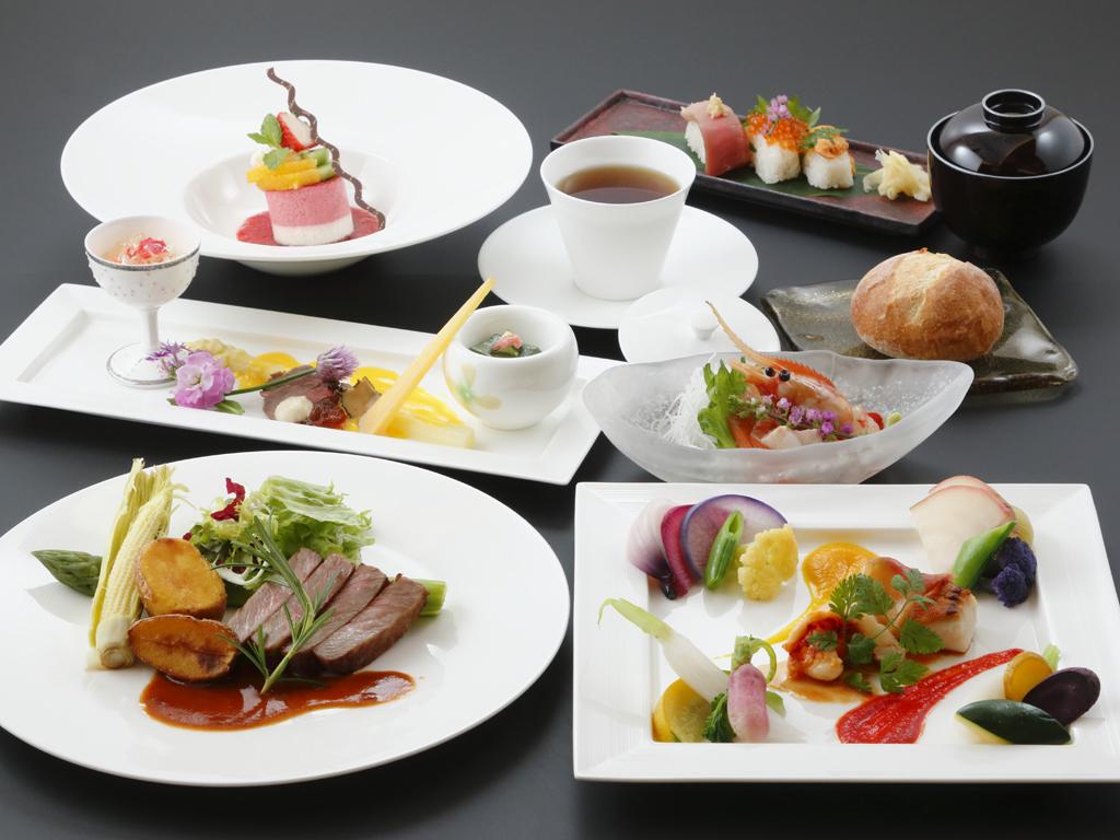夕食イメージ 和洋折衷コース料理