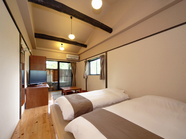 【本棟】2階露天風呂付ツイン和室例
